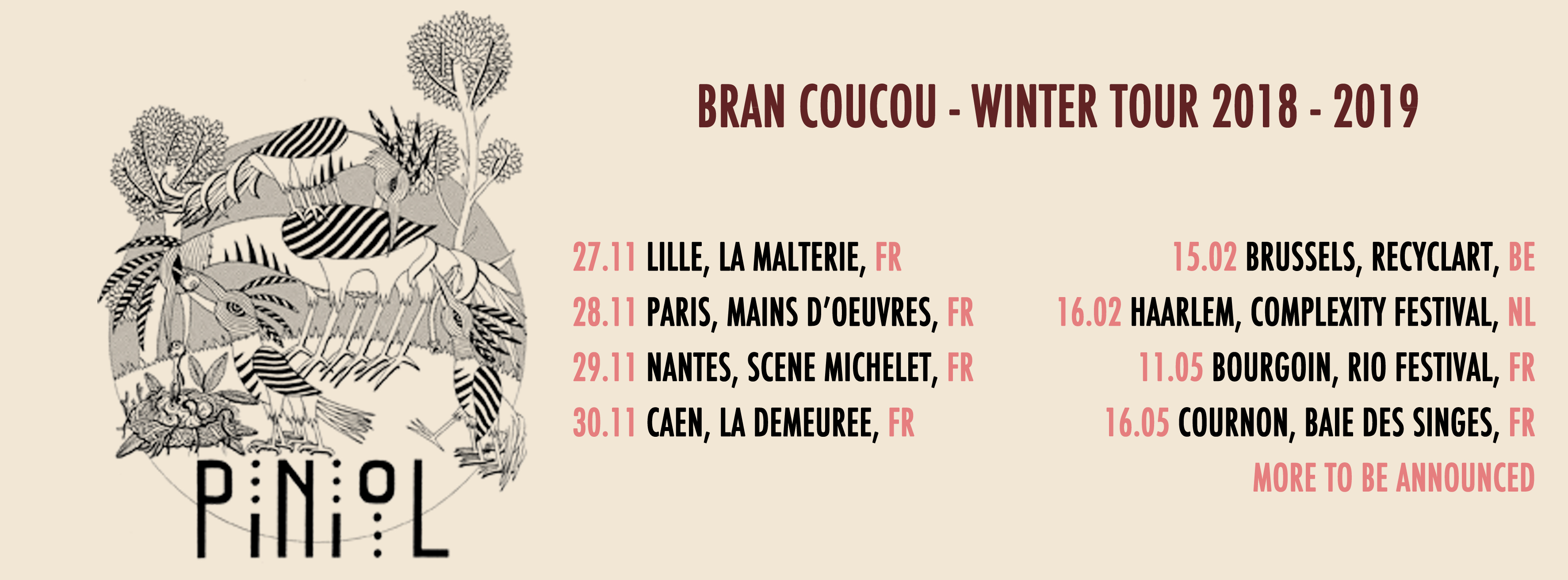 PinioL winter tour - artwork by Willy ténia and Dur et Doux